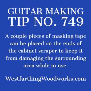 guitar making tip number 749