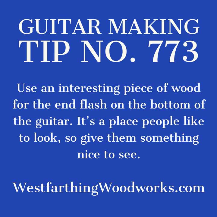 guitar making tip number 773