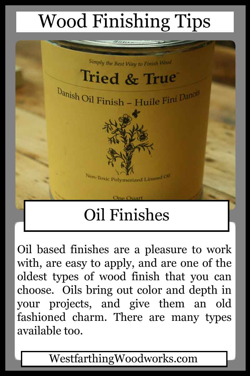 wood finishing tips cards oil finishes