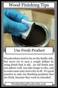 wood finishing tips cards use fresh product