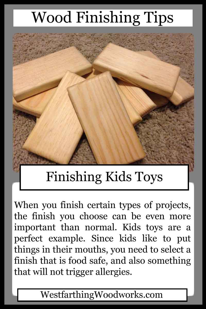 wood finishing tip cards finishing kids toys