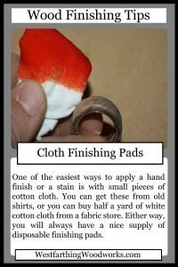 wood finishing tips cards cloth finishing pads