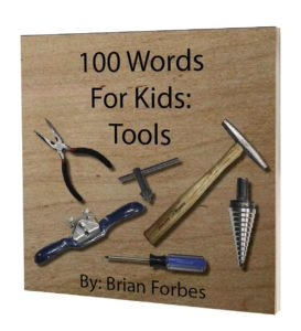 100 words for kids tools book cover