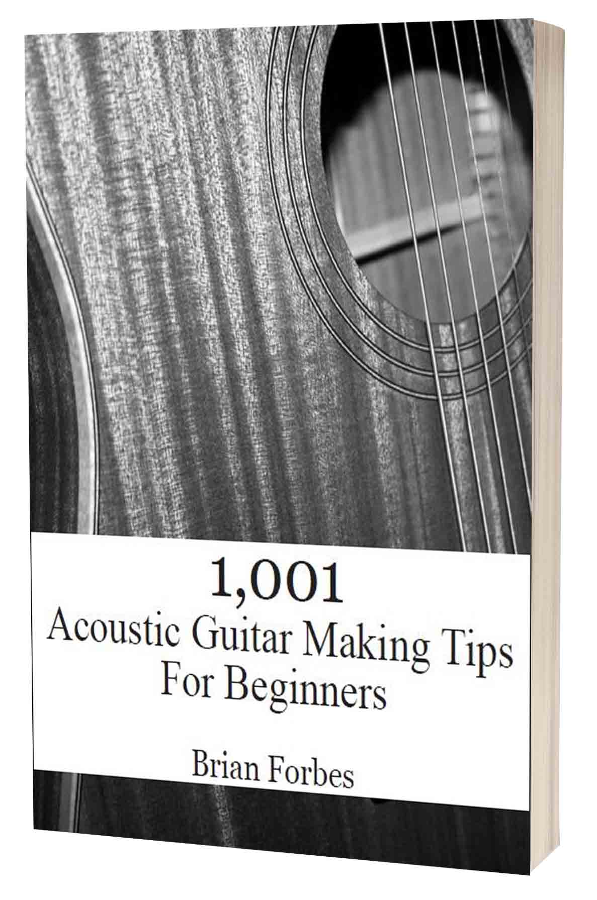 1001 acoustic guitar making tips for beginners 3d book cover version3