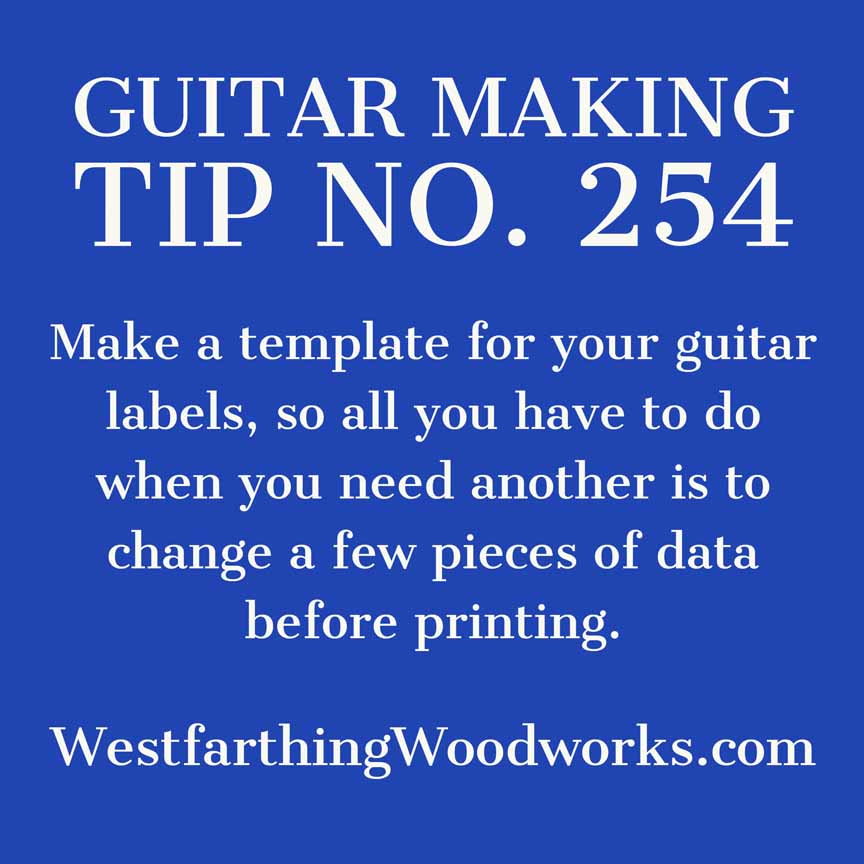 guitar making tip number 254