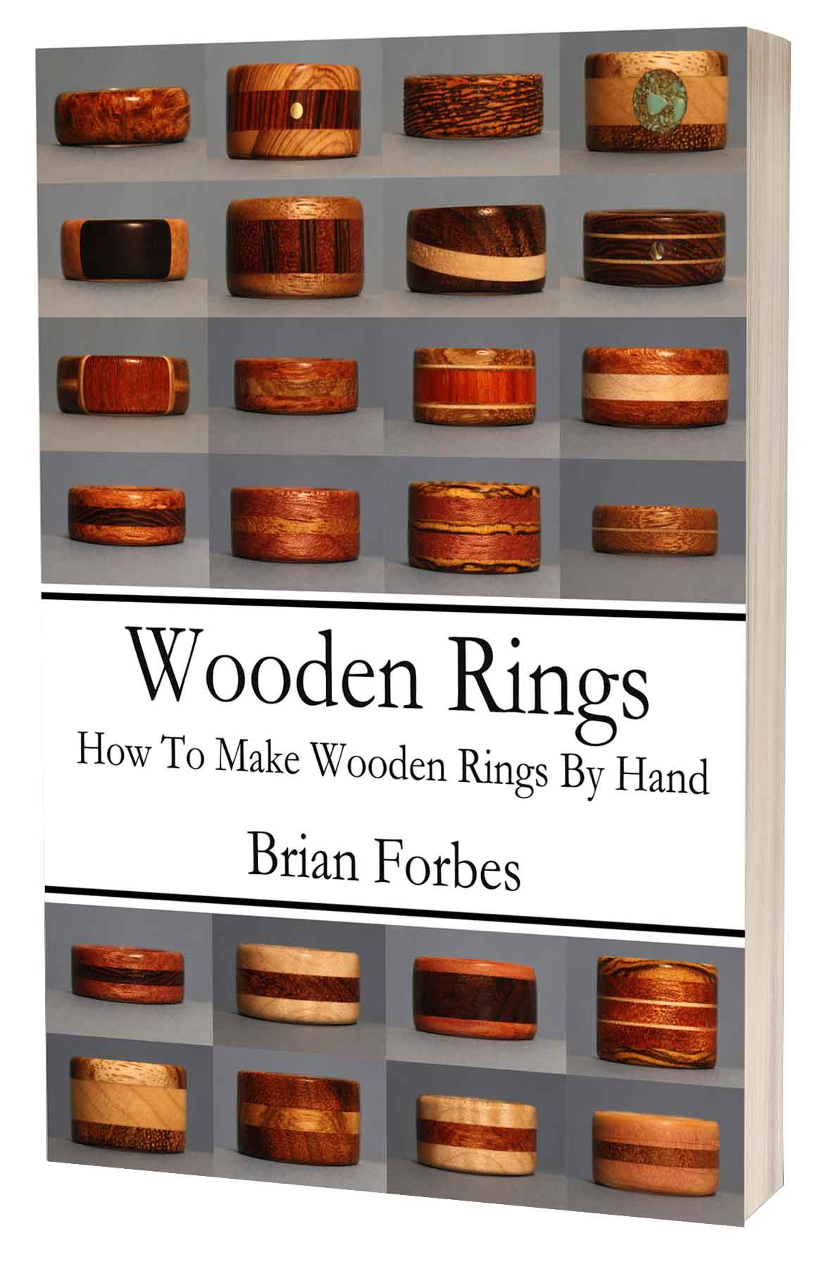wooden rings how to make wooden rings by hand 3d book cover 2