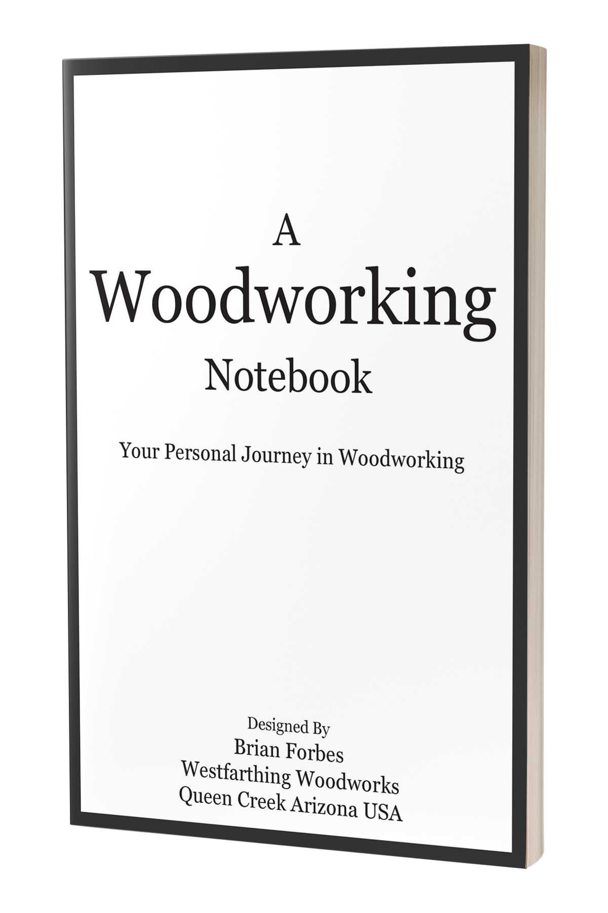 a woodworking notebook cover book