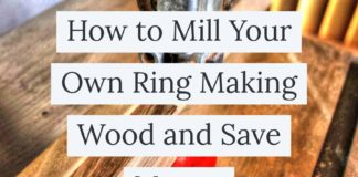 How to mill your own ring making wood and save money