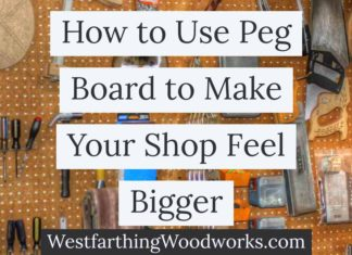 How to use peg board to make your shop feel bigger