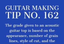 guitar making tip number 162 grading an acoustic guitar top