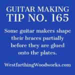 guitar making tip number 165 partially shaping your braces
