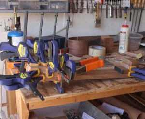How-to-Make-an-Acoustic-Guitar-Series-stacked-neck-gluing-with-clamps