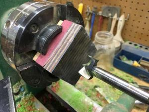 how-to-make-a-wood-ring-with-a-metal-band-drilling-on-the-lathe