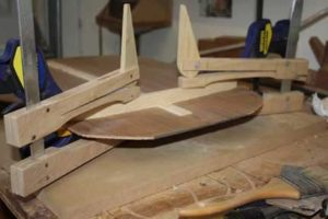 How-to-Make-an-Acoustic-Guitar-Series---Part-Six---Bracing-the-Back-clamping-curved-braces