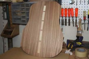 How-to-Make-an-Acoustic-Guitar-Series---Part-Six---Bracing-the-Back-finished-glue-job