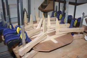 How-to-Make-an-Acoustic-Guitar-Series---Part-Six---Bracing-the-Back-still-clamping