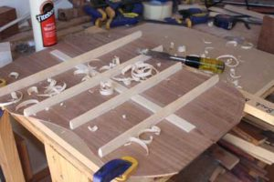 How-to-Make-an-Acoustic-Guitar-Series---Part-Seven---Carving-the-Back-Braces-back-brace-carving