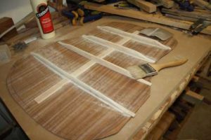 How-to-Make-an-Acoustic-Guitar-Series---Part-Seven---Carving-the-Back-Braces-checking-the-sanding-of-the-braces