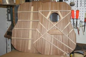 How-to-Make-an-Acoustic-Guitar-Series---Part-Seven---Carving-the-Back-Braces-finished-plates-together