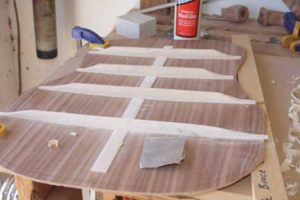 How-to-Make-an-Acoustic-Guitar-Series---Part-Seven---Carving-the-Back-Braces-sanding-the-braces