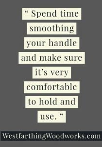 15-Great-Tips-for-Making-Wooden-Tool-Handles-smoothing-the-handle-with-sandpaper-quote