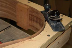 How-to-Make-an-Acoustic-Guitar-Series--Part-Ten--Blocks-and-Tapering-planing-down-the-side-height-in-the-jig