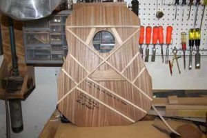 How-to-Make-an-Acoustic-Guitar-Series---Part-Thirteen---Attaching-the-Top-Plate-the-top-before-being-attached