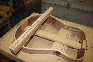 How-to-Make-an-Acoustic-Guitar-Series-Part-Twelve-Attaching-the-Back-Plate-sanding-the-sides