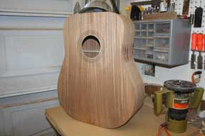How-to-Make-an-Acoustic-Guitar-Series-Part-Fourteen-Trimming-the-Plate-Overhang-flush-cutting-bit-to-trim-the-plate-overhang