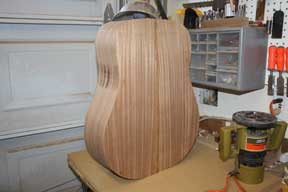 How-to-Make-an-Acoustic-Guitar-Series-Part-Fourteen-Trimming-the-Plate-Overhang-guitar-trimmed-and-flush