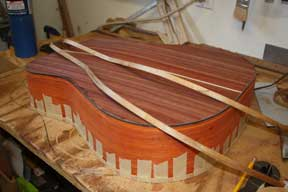 How-to-Make-an-Acoustic-Guitar-Series---Part-Seventeen---Bending-Binding-Strips-completed-binding-strip-bending