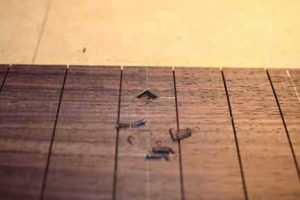 How-to-Make-an-Acoustic-Guitar-Series-Part-Twenty-Four-Fretboard-Inlay-removing-the-waste