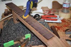 How-to-Make-an-Acoustic-Guitar-Series-Part-Twenty-Six-Attaching-the-Fretboard-clamping-the-fretboard