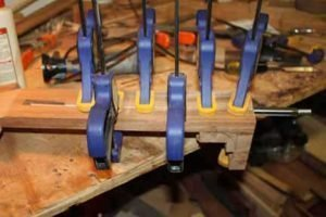 How-to-Make-an-Acoustic-Guitar-Series-Part-Twenty-Three-Truss-Rod-Cover-clamping-the-cover